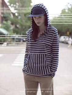 stripes! hoodie! love!