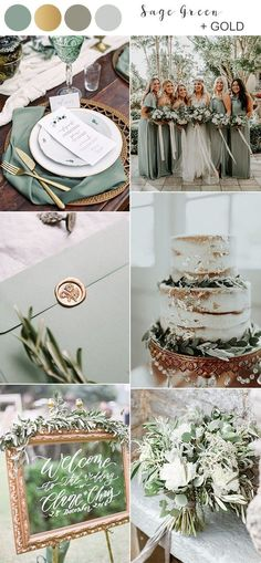 Top 10 Fall Wedding Colors for 2019 Trends You'll Love. sage green and gold fall wedding color ideas for Having a fall wedding is all about bringing a sense of coziness and richness to your big day, and that's why autumn is always the. Fall Wedding Colors, Wedding Color Schemes, Burgundy Wedding Colors, Color Themes For Wedding, October Wedding Colors, Gold Wedding Theme, Wedding Ideas For October, Wedding Colora, Wedding Color Palettes