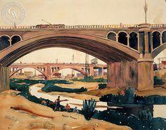 Blaire Field - Water Under the Bridge, L.A. River, 1939