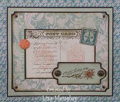 Shabby Post Card by ponygirl40 - Cards and Paper Crafts at Splitcoaststampers by lisa hensley