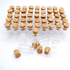 Other Wholesale Party Supplies 14882: Lot Of 100 Small Glass Vials With Cork Tops 2 Ml Tiny Bottles Little Empty Jars -> BUY IT NOW ONLY: $1499 on eBay!