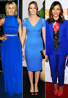 Trend Alert: Julianne Hough, Jennifer Lawrence, and Rashida Jones courageously chose cobalt by putting three very different spins on classic looks.