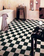 Gerbad vinylbelegg til badet på loftet
