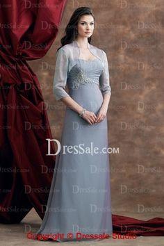 070093a4e17 Colored Chiffon A-Line Mother of Bridal Dress with Jacket Tuxedo Dress