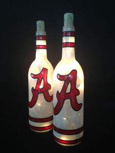 Alabama Wine Bottle Lamp