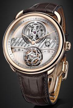 Hermès Arceau Lift Flying Tourbillon Watch. Limited Edition 176 Pieces. Price: $165,000.00. arceau lift, time, tourbillon watch, hermes, style, hermè arceau, fli tourbillon, herm arceau, arceaulift