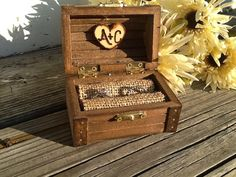 Rustic wedding ring box nautical beach side wedding by PineNsign Rustic Wedding Rings, Wedding Ring Box, Diy Wedding, Wedding Stuff, Dream Wedding, Wedding Ideas, Lace Wedding, Groomsmen Accessories, Wooden Ring Box