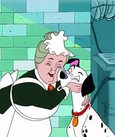 *NANNY & PONGO ~ 101 Dalmatians, puppies are here, the puppies are here! Walt Disney, Disney Pixar, Disney And Dreamworks, Disney Cartoons, Disney Love, Disney Magic, Disney Animation, 101 Dalmatians 1961, Dalmations