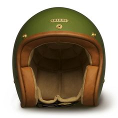 Hedon Hedonist Helmet - Cactus | Open Face Motorcycle Helmets | FREE UK delivery - The Cafe Racer