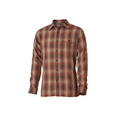 Men's Royal Robbins Pinecrest Plaid Long Sleeve Shirt ($36) ❤ liked on Polyvore featuring men's fashion, men's clothing, men's shirts, men's casual shirts, brown, plaid shirts, mens long sleeve button up shirts, mens brown shirt, mens casual long sleeve button down shirts and mens tartan shirt