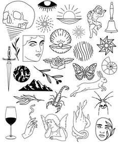 Thank you everyone that participated in my flash tattoo sale and helped me to promote and celebrate the new flash sheets! Doodle Tattoo, Kritzelei Tattoo, Home Tattoo, Tattoo Quotes, Flash Art Tattoos, Tattoo Old School, Tattoo Sketches, Tattoo Drawings, Art Sketches