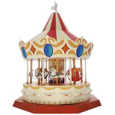 Carousel Paper Model - by Ayumi Saito / Canon - Carrossel De Papel -         A really beautiful paper model of a Carousel, in a stunning vintage style, by Japanese artist Ayumu Saito, vi Canon website.