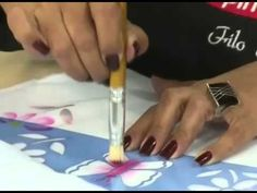 Pintura fácil em fralda - Filó Frigo