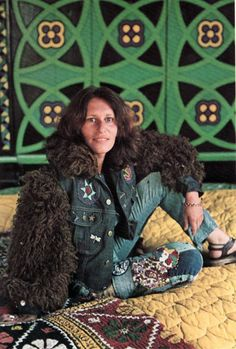 Melts in Your Mind Hippie Man, Denim Art, Hippie Outfits, Wearable Art, Fur Coat, Laurel Canyon, Culture, Counter, People