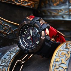 G Shock Watches Mens, Best Watches For Men, Vintage Watches For Men, Stylish Watches, Luxury Watches, Cool Watches, Gold G Shock, Fossil Watches, Men's Watches