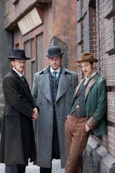 Jerome Flynn as Detective Sergeant Bennet Drake, Matthew Macfadyen as Detective Inspector Edmund Reid and Adam Rothenberg as Captain Homer Jackson in Ripper Street (TV Series, 2012-2013).