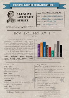 My Resume   By Wecoastdesign On Deviantart  Infographic Visual