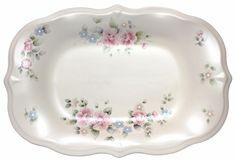 """Pfaltzgraff Tea Rose Rectangular Serving Platter Scultped Bread Tray 141/8"""" MINT #Pfaltzgraff"""
