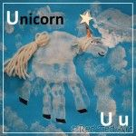 Handprint Alphabet – U for… Unicorn