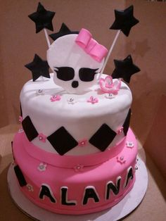 Monster High Birthday cake - by chatasbakes @ CakesDecor.com - cake decorating website