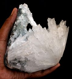 Awesome NATROLITE with granular crystal APOPHYLLITE Minerals India #3042