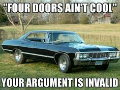 """On I finished restoring my 1967 Chevy Impala (aka """"Hunter"""")! As some of you might know, these Impala are extremely hard to find, let alone in. Chevy Impala 1967, Black Chevy Impala, Impala 67, Supernatural Fandom, Supernatural Impala, Castiel, Porsche 911 997, Lowrider, My Dream Car"""