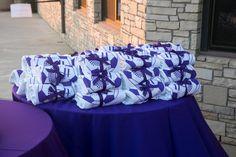 Sweatshirt favor - White crew neck -  soccer bat mitzvah - purple - logo - PC: Graham & Graham Photo - Design by DB Creativity