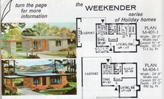 The Weekend Series Plan and Plan Guest House Plans, Sims 4 House Plans, Sims House, House Floor Plans, Guest Houses, Tiny Houses, Vintage House Plans, Modern House Plans, Vintage Homes