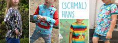 Schnittmuster Kindershirt Longsleeve (Schmal)Hans