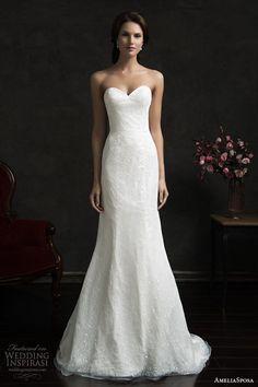 amelia sposa 2015 bridal tereza strapless sweetheart wedding dress