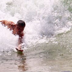 Bodysurfing. Brazilian beach. Guarapari - Espírito Santo - Brazil