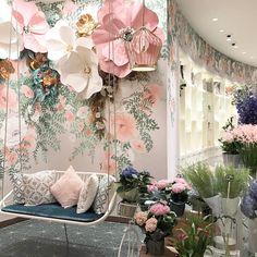 """(@enya_todd) """"Checking out this beautiful tearoom in Macau! #tearoom #afternoontea #paperflowers #visitmacau…"""""""