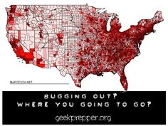 Bug Out Destinations - Have you planned your route? Have your researched your destination? geekprepper.org