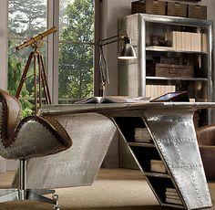 25 Sleek Industrial Furniture Finds: Love this desk!