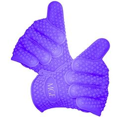 Cooking Gloves Heat Resistant - Ideal for Use As Oven Mitts, BBQ Insulated Gloves, Cooking Hot Gloves, Grill Gloves, Kitchen Gloves or Pot Holder - Highly Recommended for All Cooks - Set of 2 Silicone Gloves with One-size-fits-all Design - Purple. MGE Chef