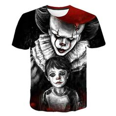 Customized DC Comic X Task Force Suicide Squad Clown Leto Suicide Team Digital Patterns Printed Tshirt Short Sleeves Men Size S Color 1616 Clown Horror Movie, Horror Movie T Shirts, Funny Horror, Horror Movie Characters, Horror Movies, Fictional Characters, 3d T Shirts, Casual T Shirts, Boys T Shirts