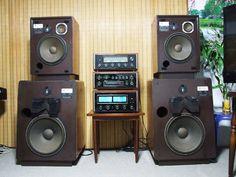 Details about JBL Paragon C44 Vintage Walnut Stereo Speaker System