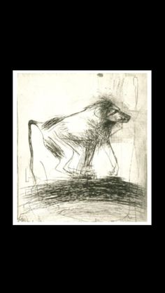 """Nathan Oliveira - """" Baboon (Black) """", 1994 - Color drypoint with aquatint - 32 1/2 x 28 1/2 in. (*)"""