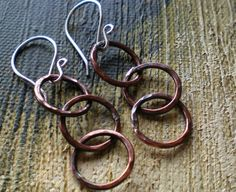 Rustic Copper  Earrings by BalsamrootRanch on Etsy, $31.00