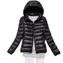 OMLESA 2017 New Autumn Winter Women Down Jacket Ultra Light Snow Coat Hooded White Duck Down Jackets Thin Feather Jacket YQ142(China)