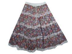 Bohemian Summer Skirt Floral Print Cotton Hippie Gypsy Tiered Skirts Mogul Interior,http://www.amazon.com/dp/B00BM06ZKQ/ref=cm_sw_r_pi_dp_XTPbsb1EM012JRGX