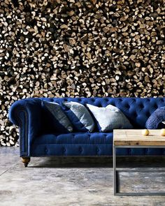 Comfy elegance / blue couch