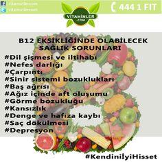 B12 Eksikliğinde oluşabilecek sağlık sorunları oldukça fazladır. Tüm bu sorunlardan kaçınmak için yeterli miktarda B12 vitamini tüketmelisiniz.