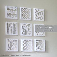 Papier Quilt cadeaux boîtes Collection SVG DVX & par ALittleHut