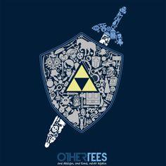 The Legend Forever by thehookshot Shirt on sale until 24 March on othertees.com #legendofzelda
