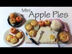 Cute Mini Apple Shaped Pies - Polymer Clay Tutorial - YouTube