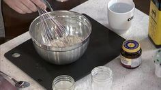 Chef, Randy Feltis shows us how to prepare a sourdough starter with fresh yeast and flour.