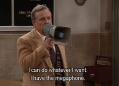 Things I learned from Boy Meets World: Whoever is holding the megaphone has all the power