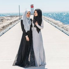 """6,278 Likes, 38 Comments - S A I M A K H A N (@saimascorner) on Instagram: """"Sister sister 👭 Hijabs from @saimascorner Dresses from @hayahcollection Photography by…"""""""