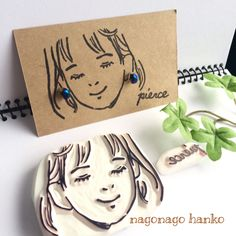 オシャレ女子 消しゴムはんこ Clay Crafts, Fun Crafts, Eraser Stamp, Stamp Carving, Handmade Stamps, Idee Diy, Linocut Prints, Jewelry Packaging, Diy Art